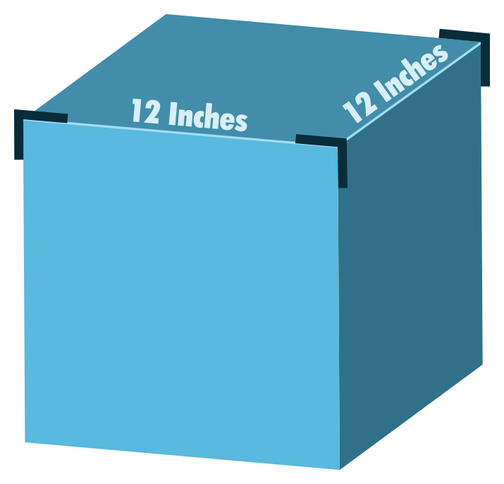 Cubic Foot Graphic