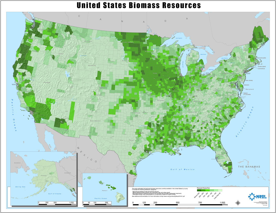 NREL National Biomass Map