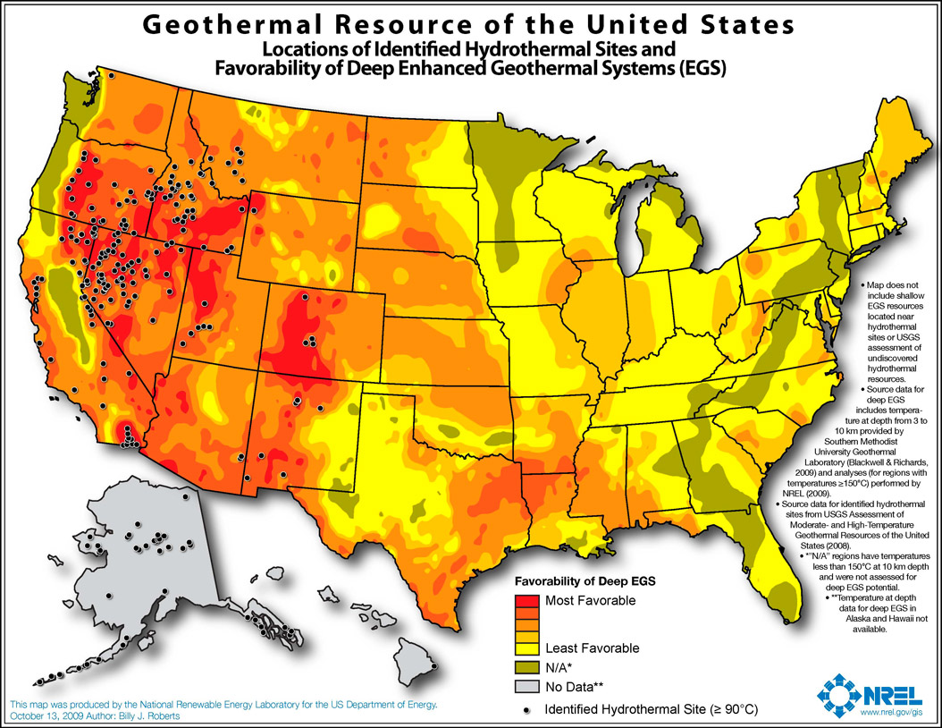 Geothermal Energy In North Dakota ND Studies Energy Curriculum - North dakota map united states