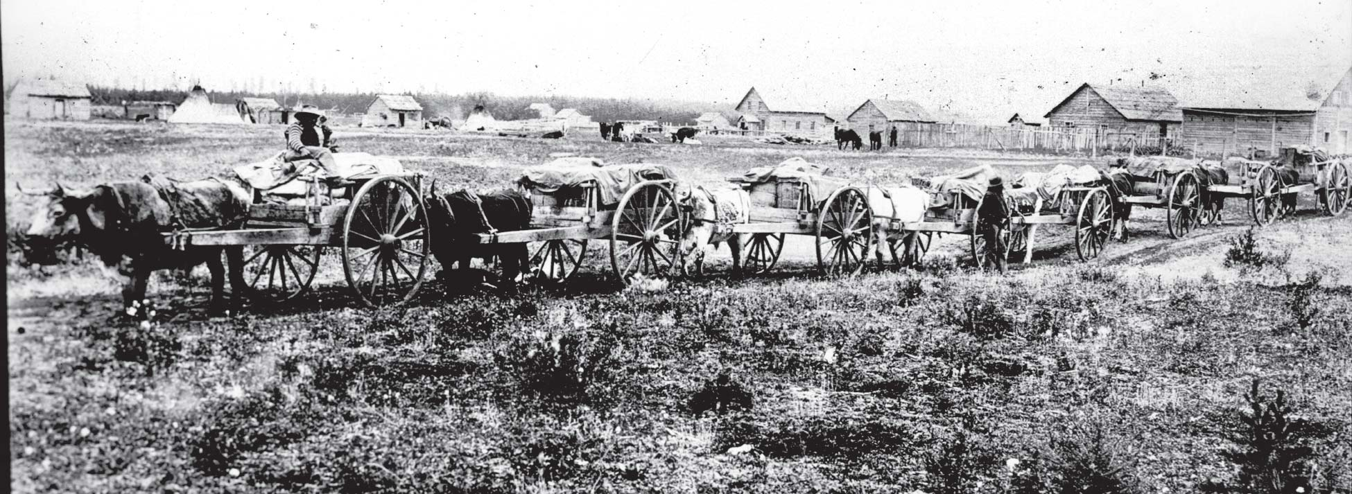 Red River cart trains