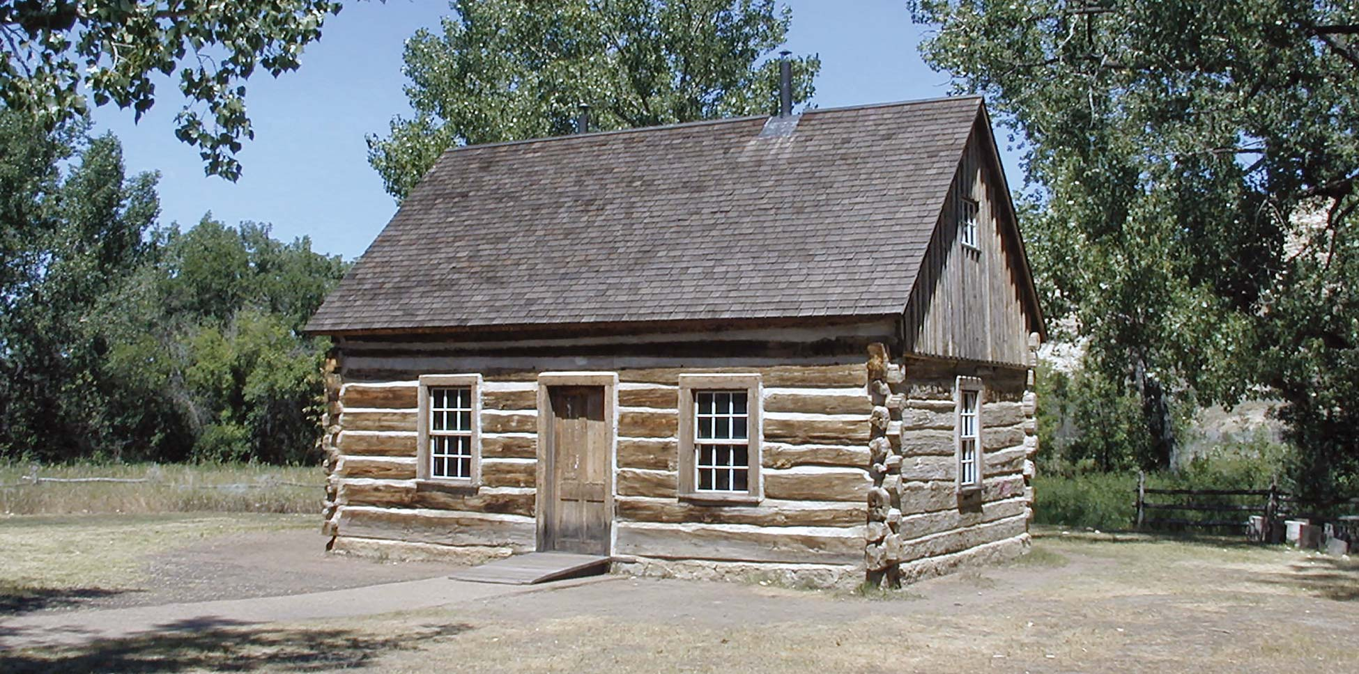 <strong>Figure 47. Theodore Roosevelt's cabin</strong> at the Maltese Cross Ranch near Medora, North Dakota. <em>(Jess Stryker)</em>