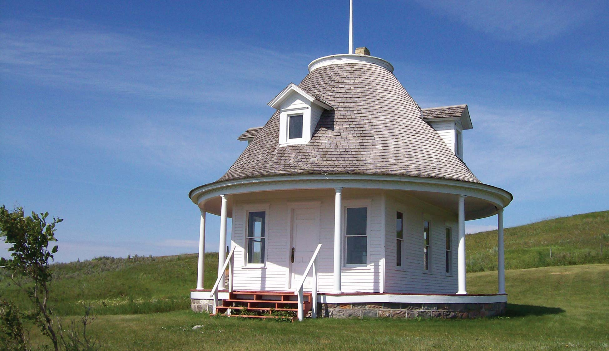 <strong>Figure 53. The Hurd Round House</strong>, near Hurdsfield, North Dakota. <em>(Gwyn Herman)</em>