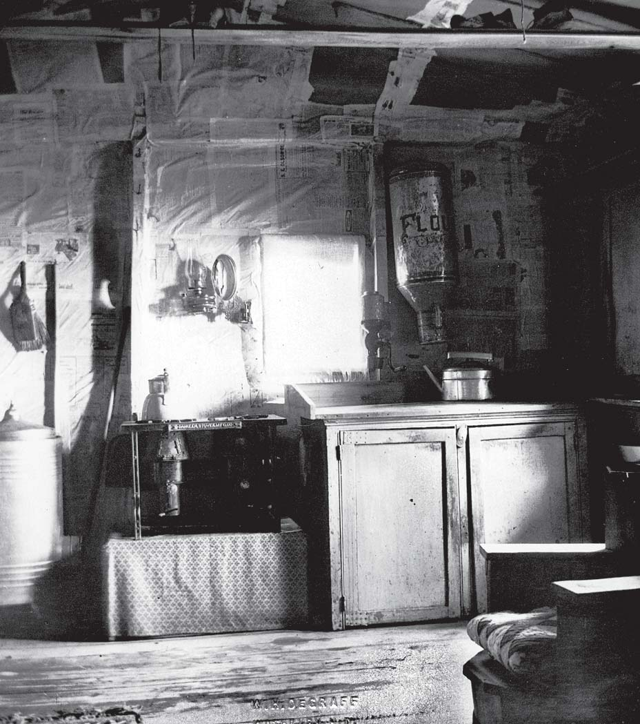 Interior of a sod home