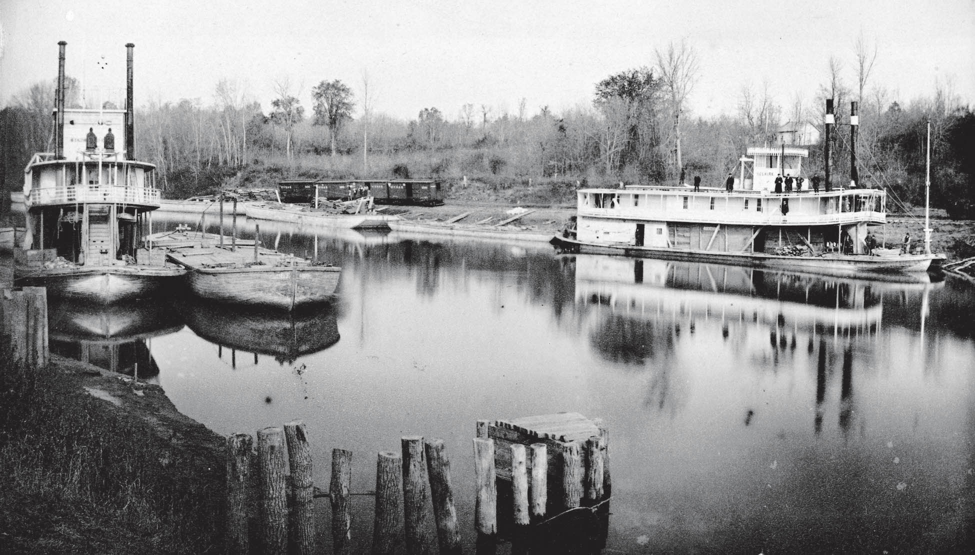 Steamboats International and Selkirk on the Red River