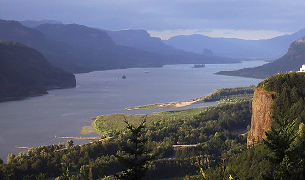 <strong>Figure 53. A scenic view of the Columbia River</strong> today. <em>(National Park Service)</em>