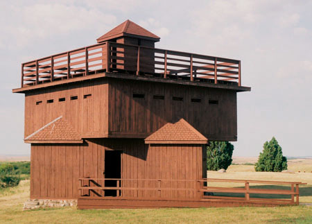 <strong>Figure 86. A reconstructed blockhouse at Fort Abraham Lincoln</strong> <em>(Neil Howe)</em>