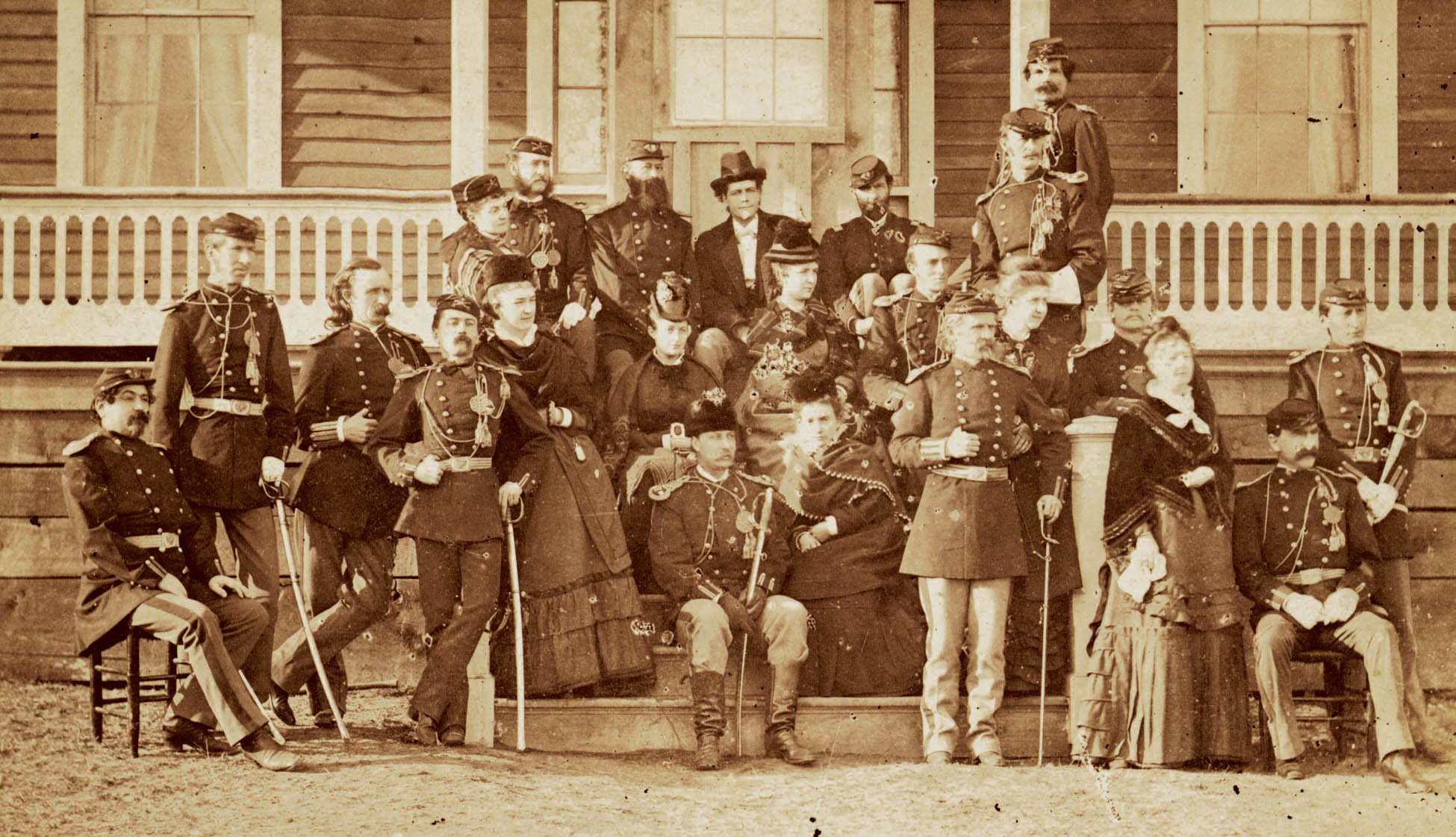 Group photo at Fort Abraham Lincoln