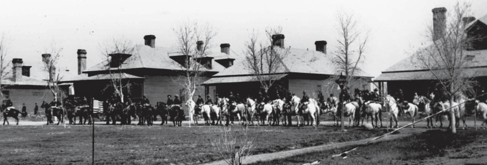 The U.S. Cavalry on Parade at Fort Yates