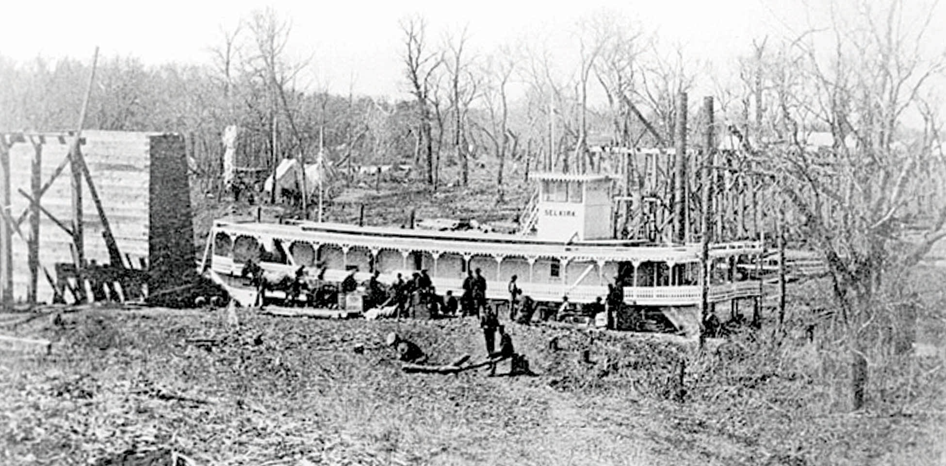 The steamboat Selkirk at Fargo, 1872
