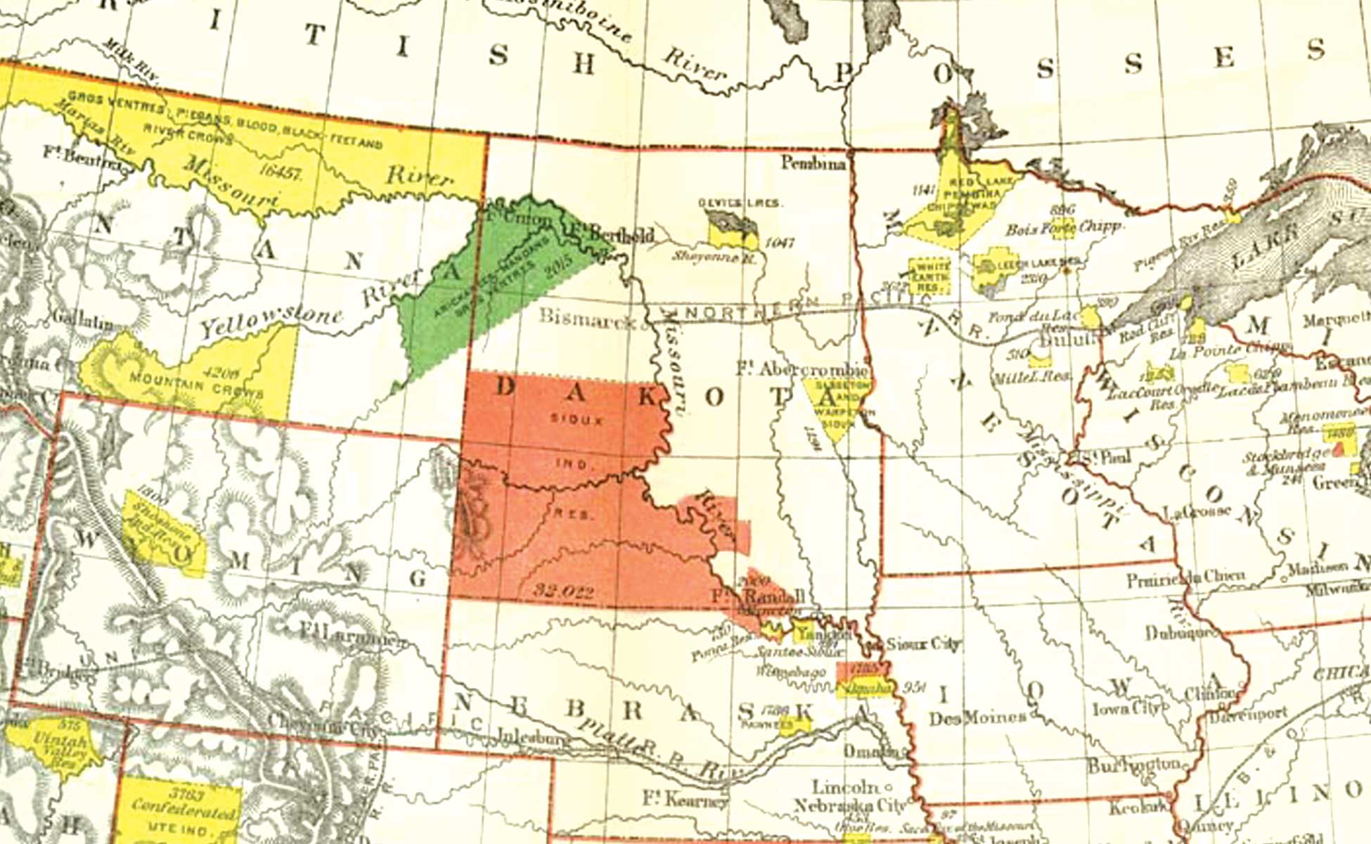 The U.S. government began forcing American Indians onto reservations in 1851.