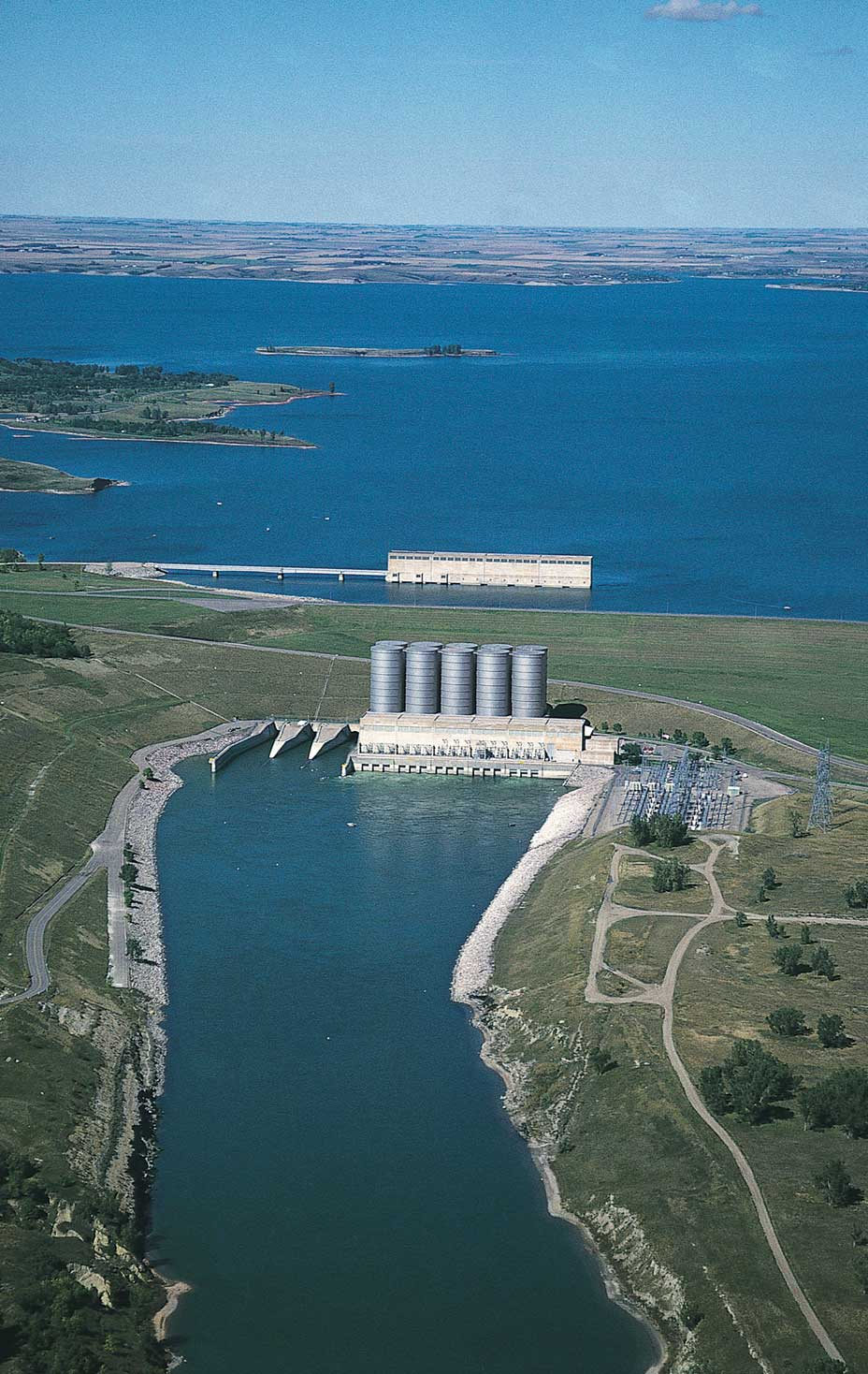Garrison Dam and Lake Sakakawea.