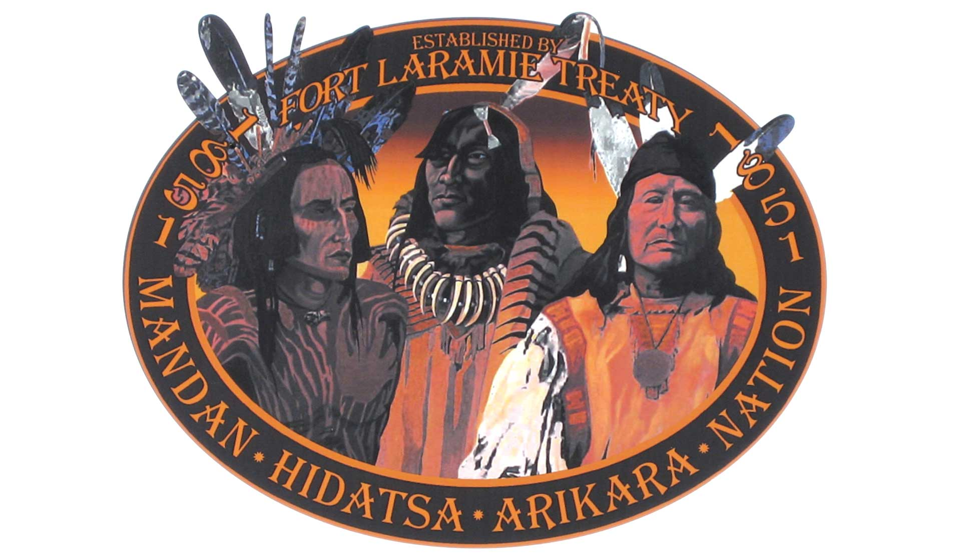 This attractive logo represents the Three Affiliated Tribes.