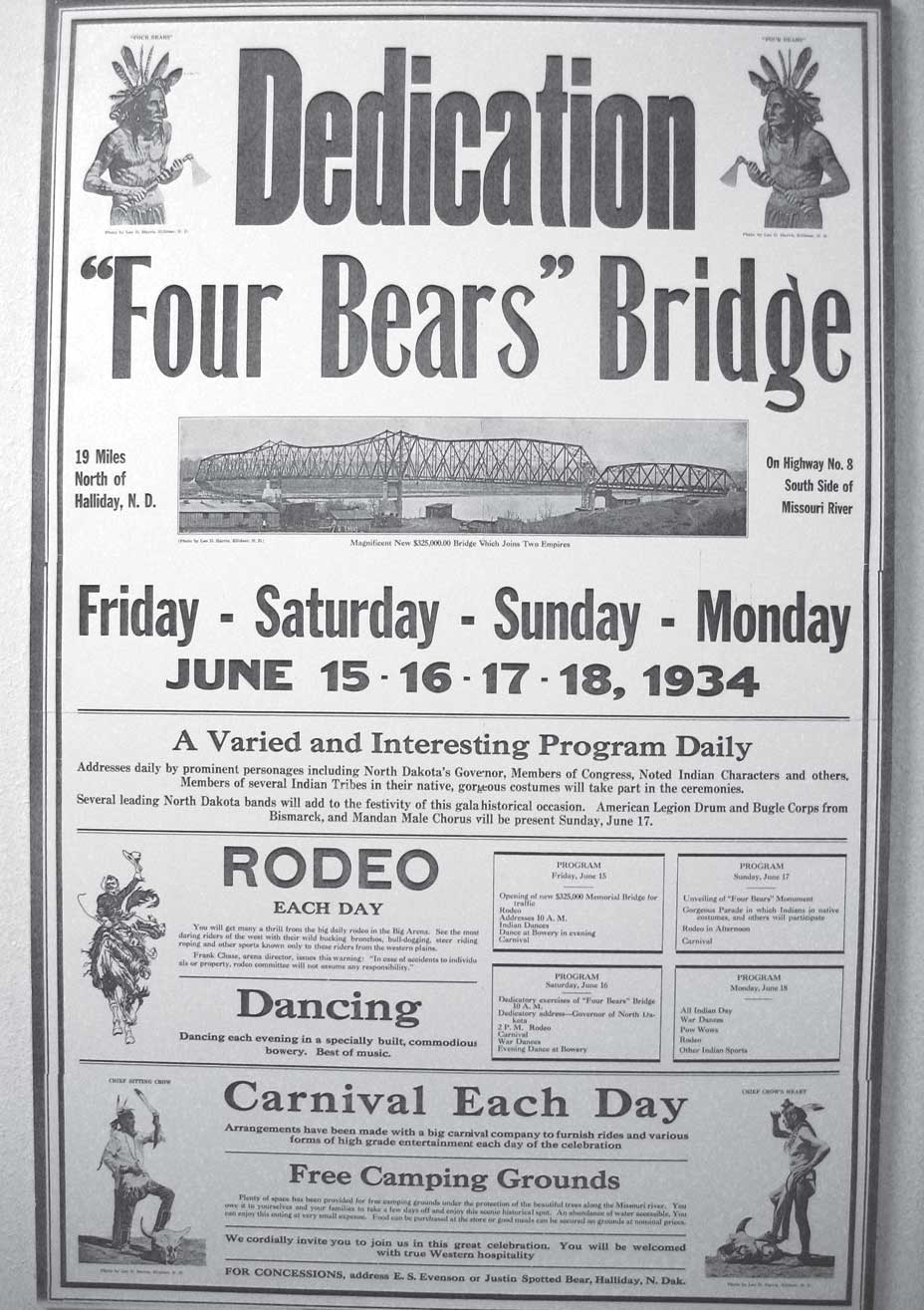 Dedication of the Four Bears Bridge.