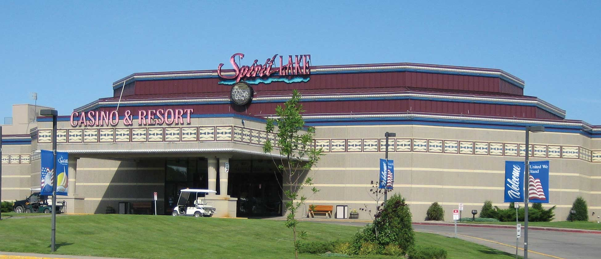 The Spirit Lake Casino and Resort south of Devils Lake.