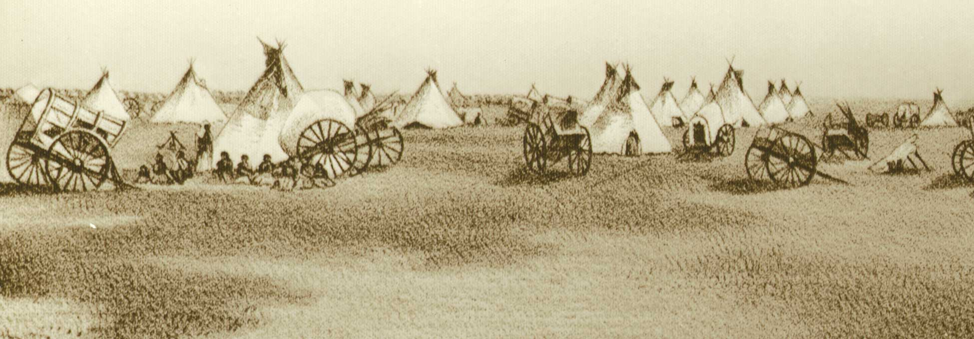 Sketch of a Métis campsite