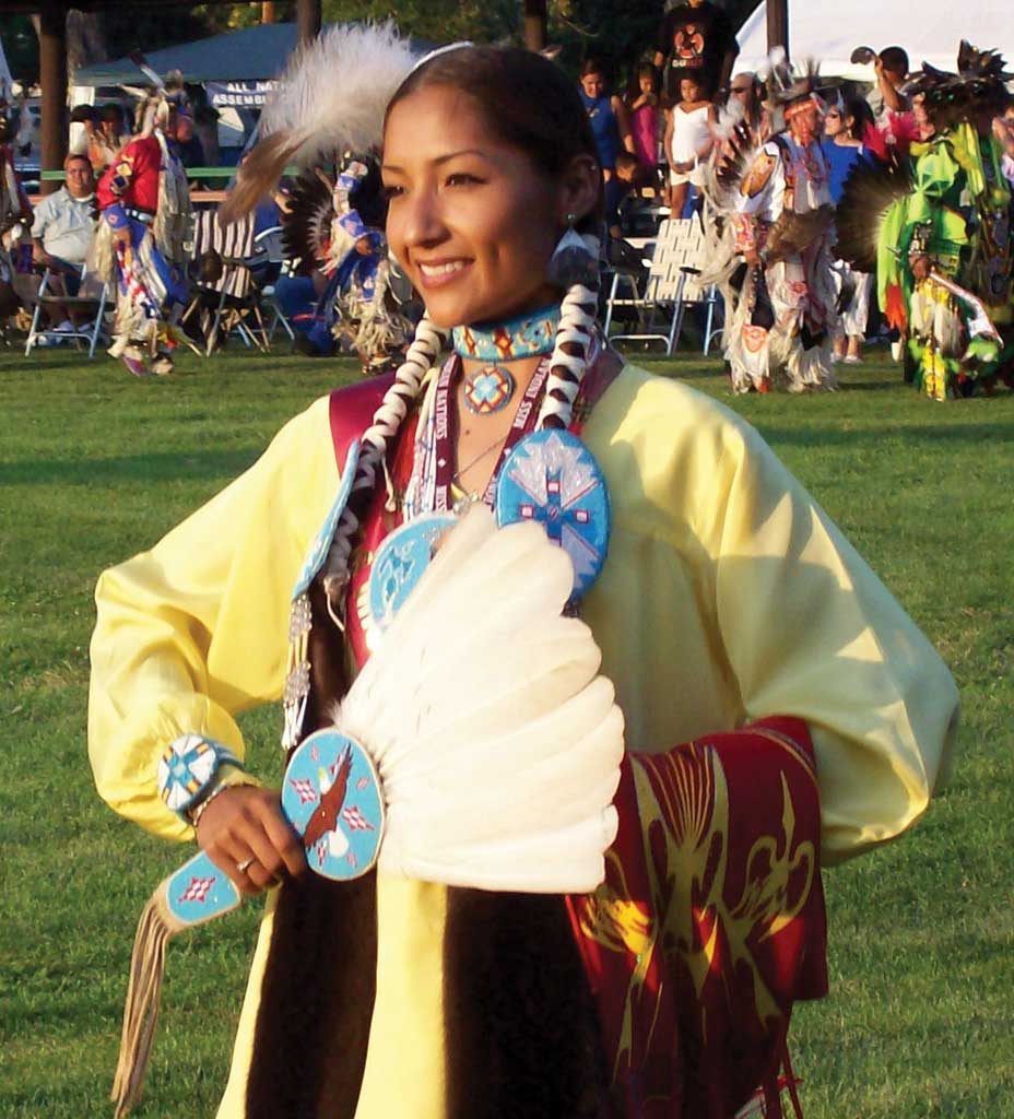 This is a dancer during the Grand Entry.