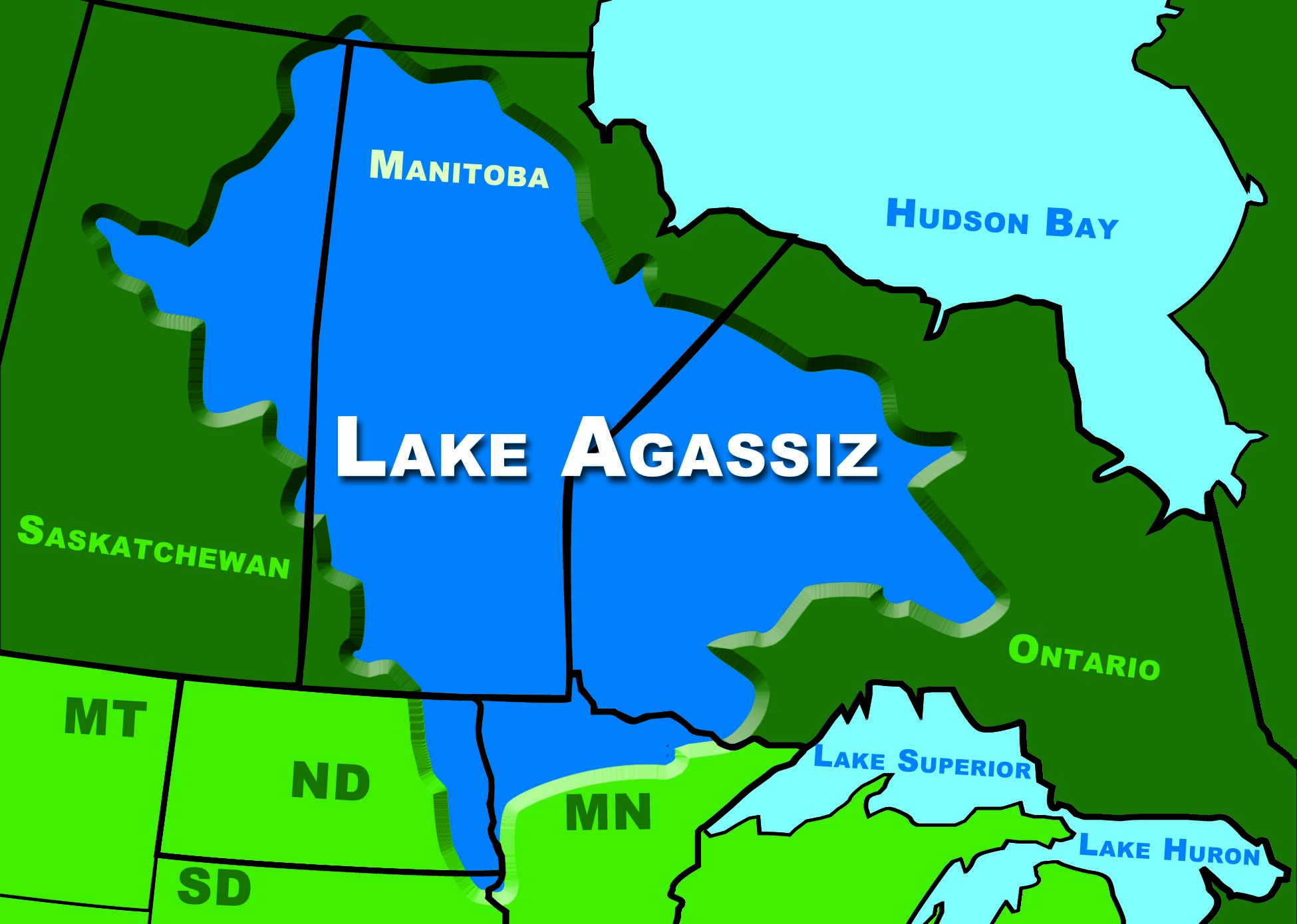 Lake Agassiz Map