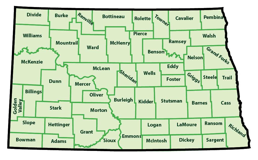 North Dakota Counties