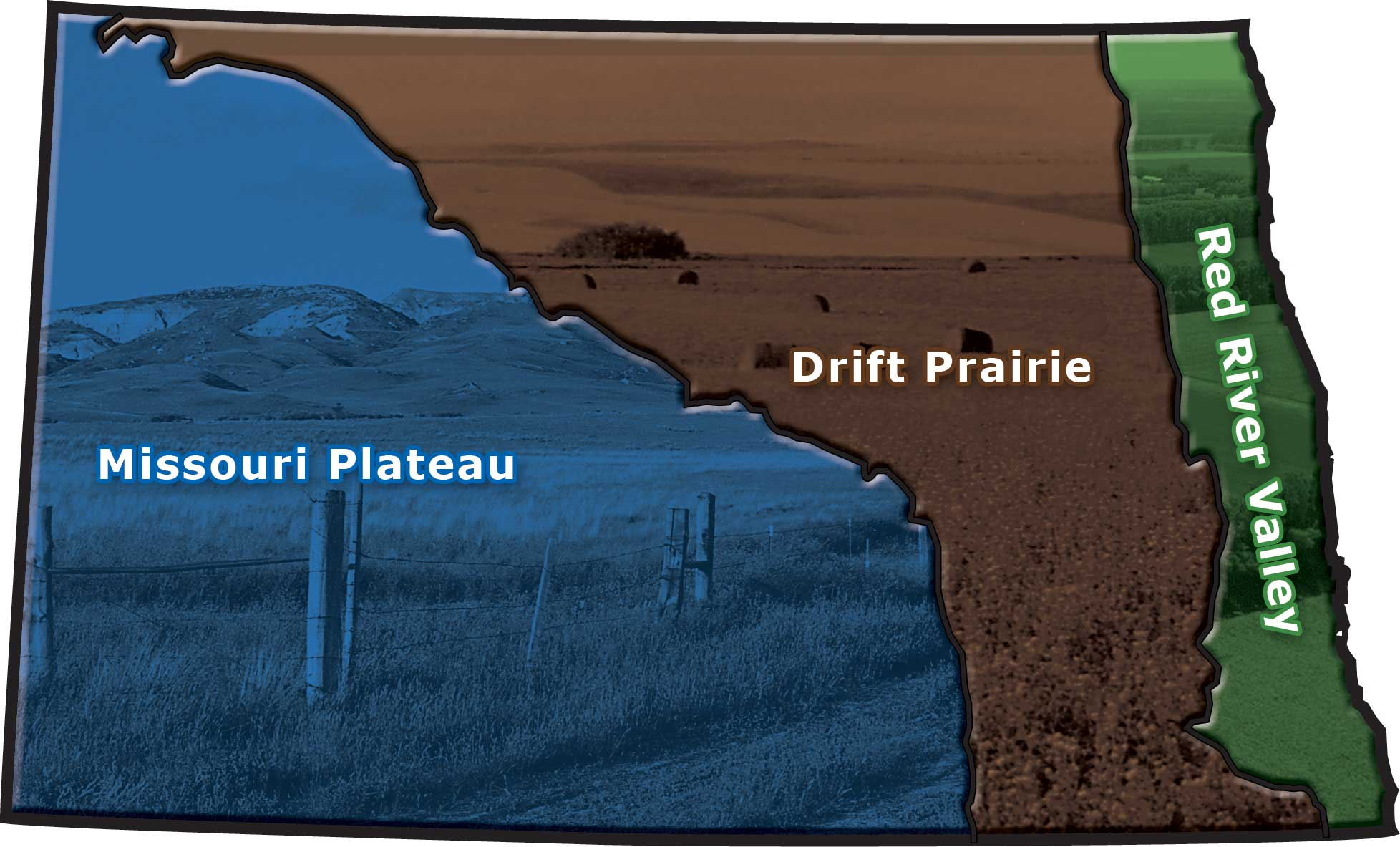 Figure 62. North Dakota has three main geographic regions