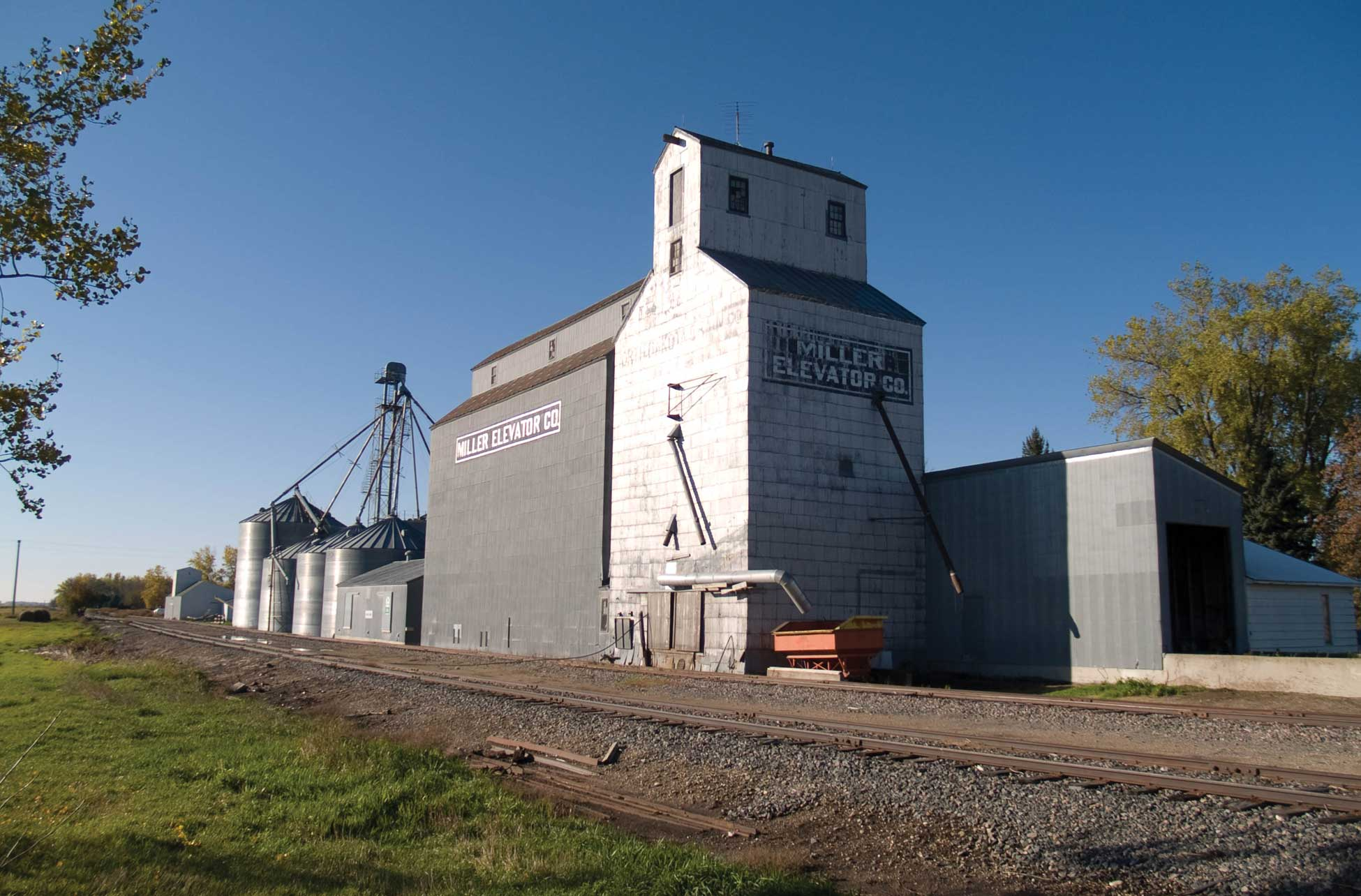 Figure 70. Grain elevators at Walum