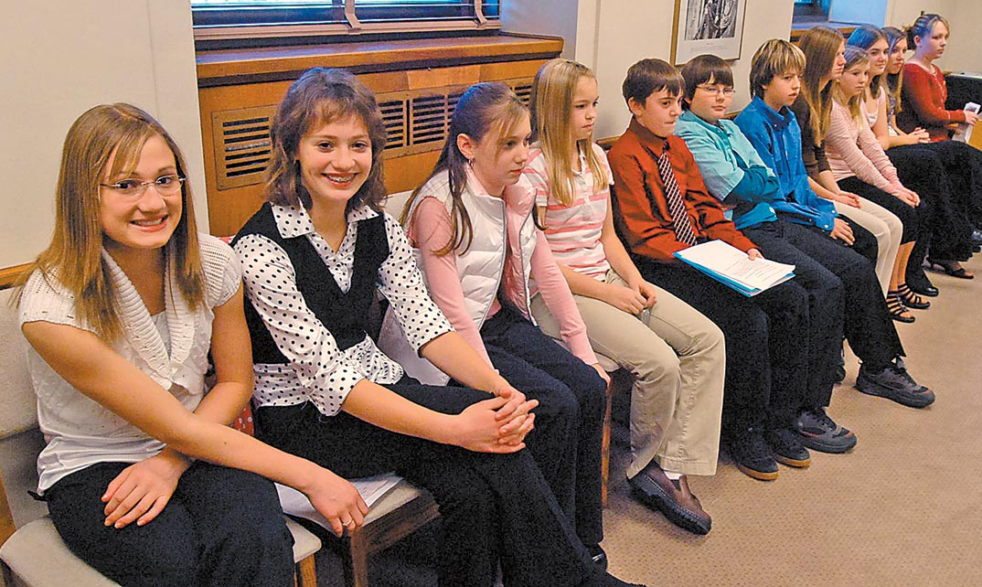 Williston students appear before the Senate Natural Resources Committee