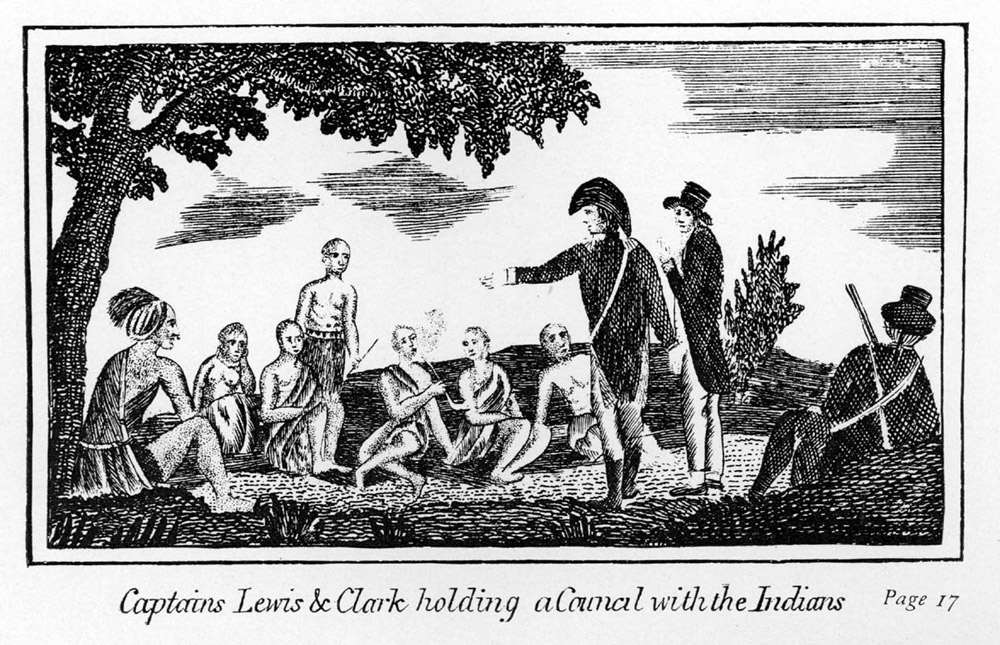 Lewis and Clark holding council