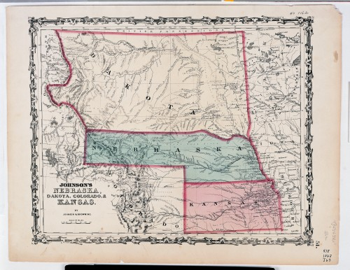 Johnson's Nebraska Dakota Colorado Kansas map