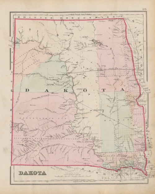 Coltons Dakota map