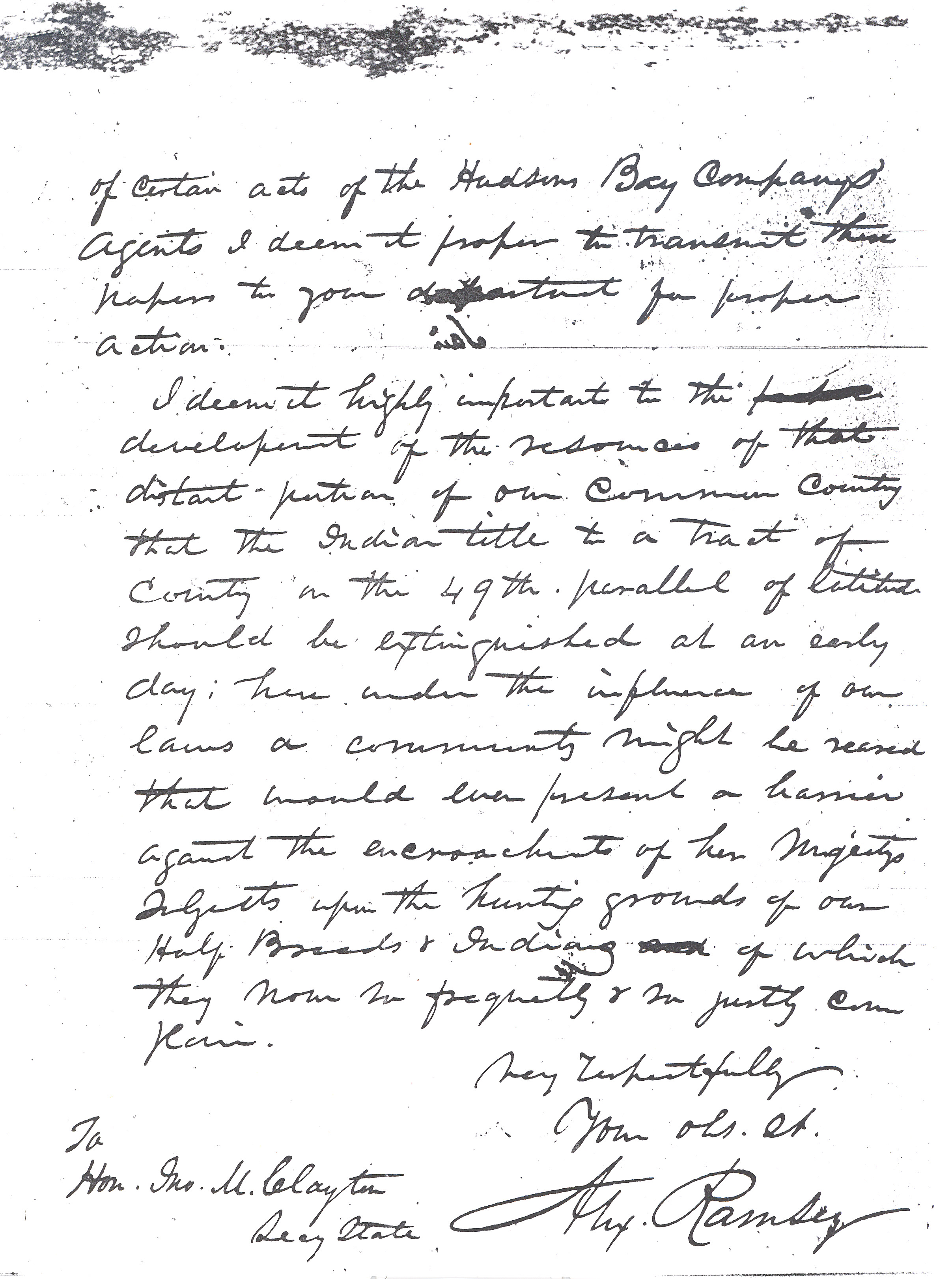 Ramsey letter, page 2
