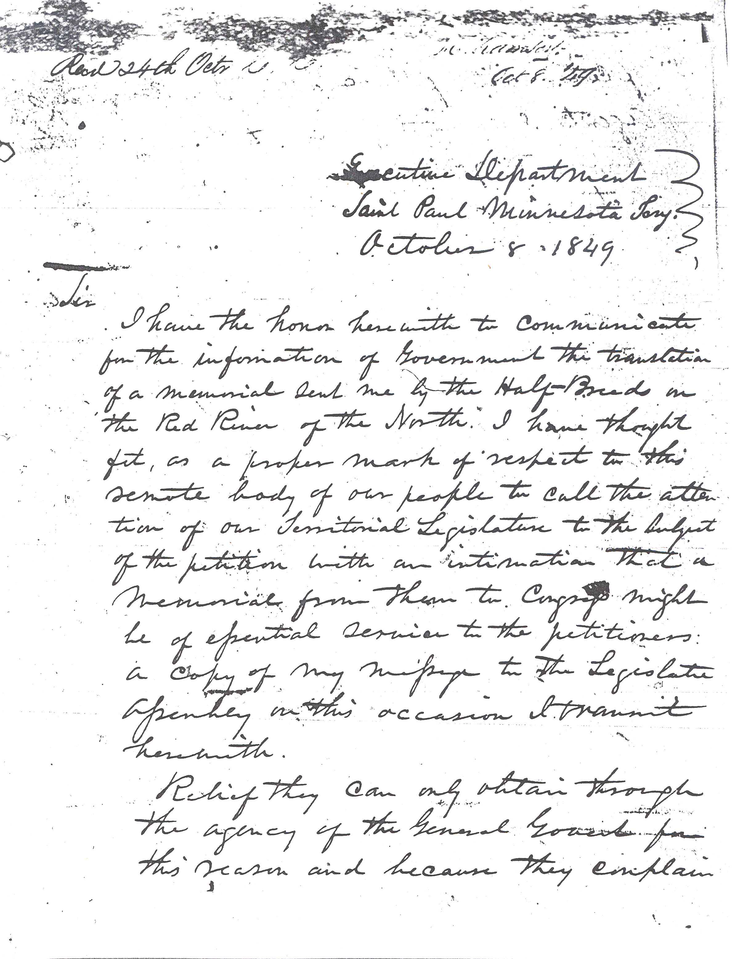 Ramsey letter, page 1