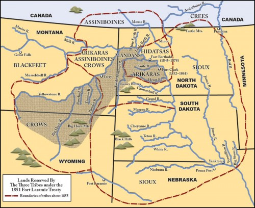 Map: The Treaty of Fort Laramie of 1851