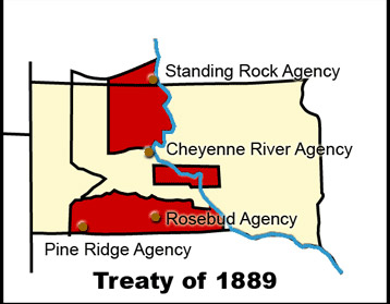 Map 8: The Break-up of the Great Sioux Reservation, 1889