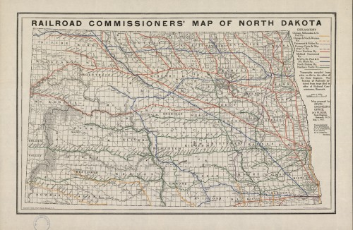 Railroad Commissioners Map of North-Dakota