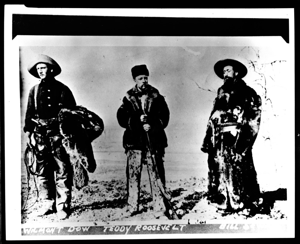 Theodore Roosevelt with Bill Sewall and Wilmont Dow