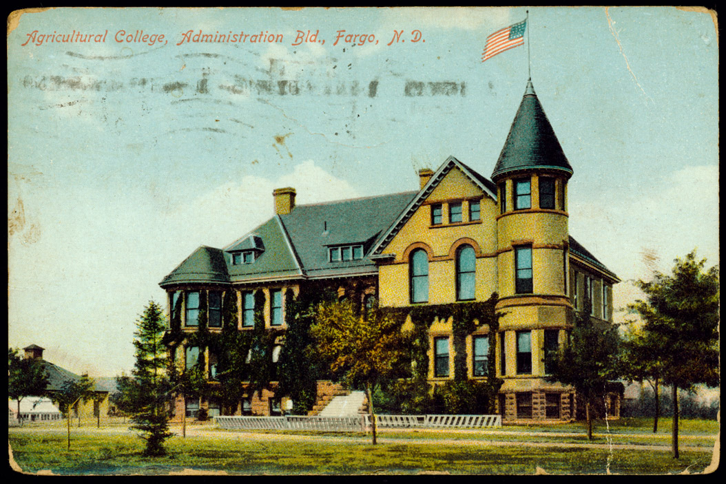 Old Main on the North Dakota Agricultural College campus in 1891