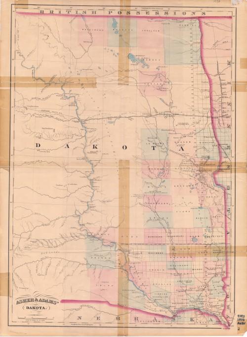 Section Pacific Railroad Act North Dakota Studies - North dakota road map