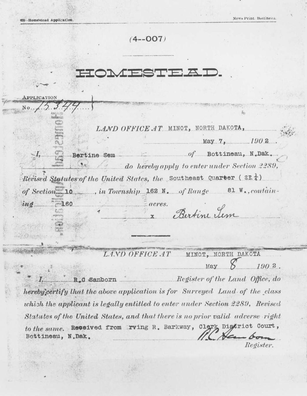 Section 2: Homestead Act of 1862   North Dakota Studies