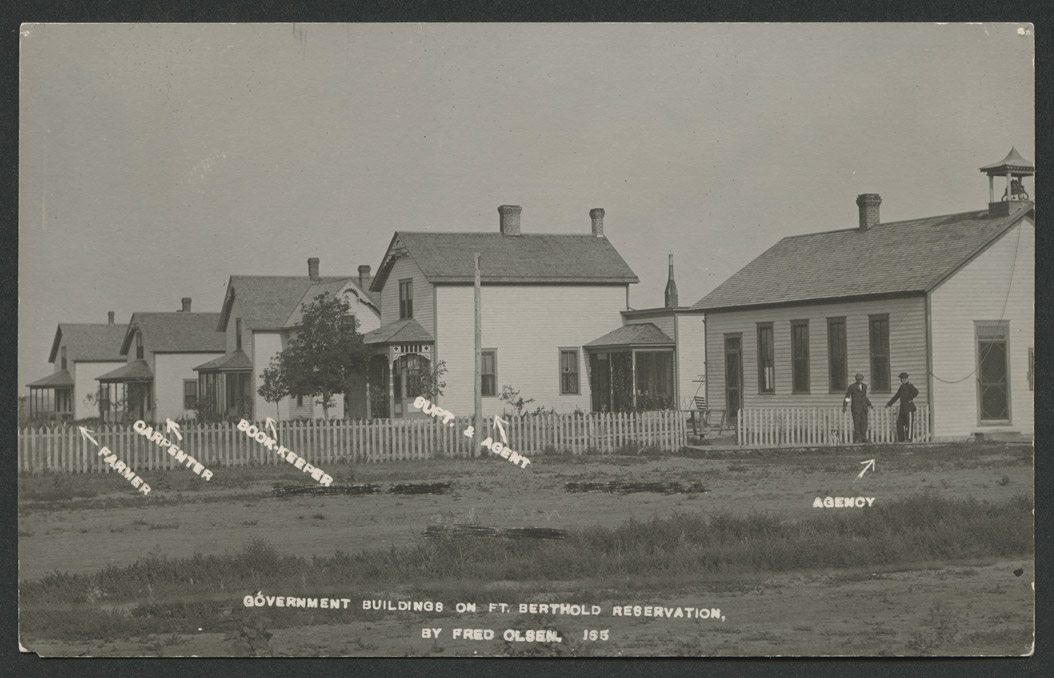 Government buildings on Fort Berthold Indian Reservation Elbowoods ND photo by Fred Olsen