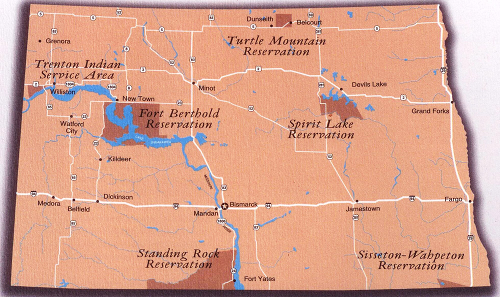 ND Indian reservations