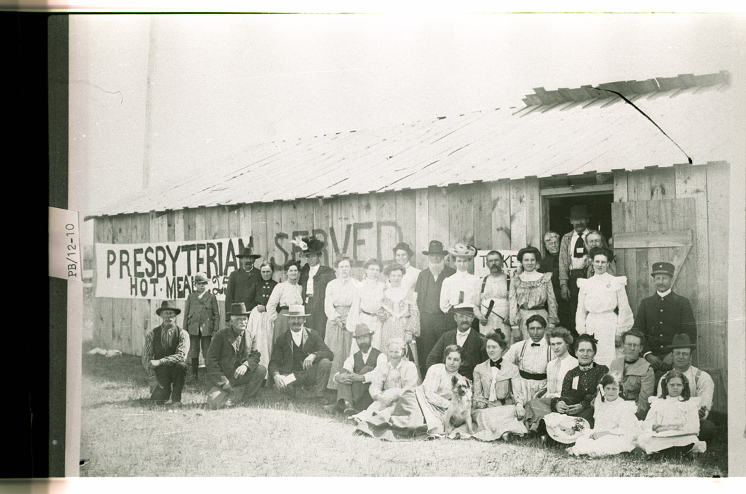 0032-PB-12-10 Hot meals served by Presbyterian Church in Hamilton, Pembina County, July 1913