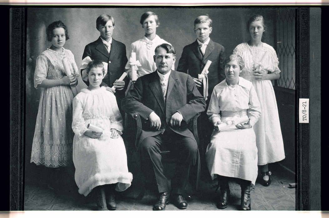 0032-TO-08-21 Confirmation Class, Lutheran Church, Bisbee, 1916