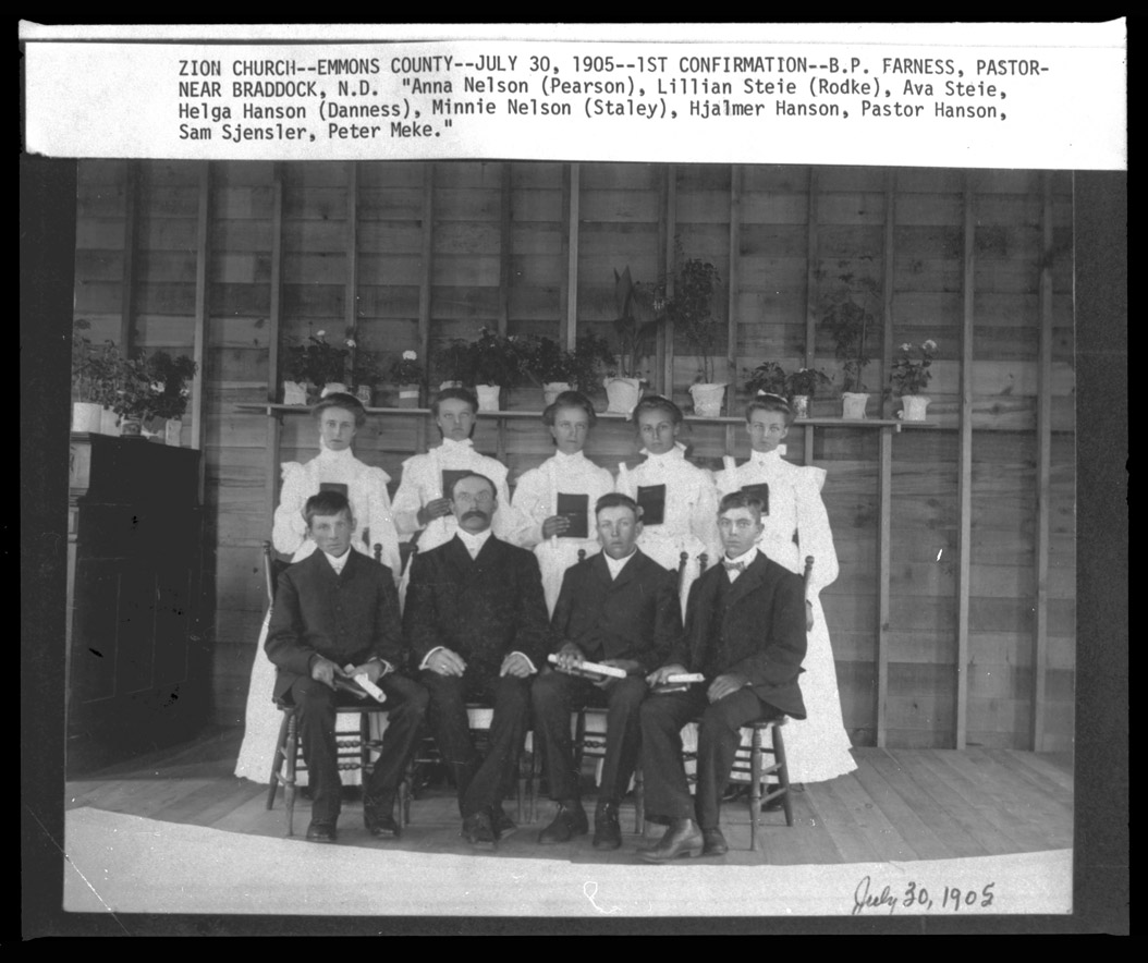 0281-0070  First Confirmation Class, Zion Congregational Church, Braddock