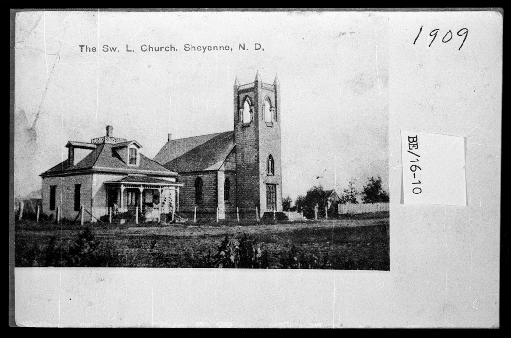 0032-BE-16-10  Swedish Lutheran Church, Sheyenne, 1909