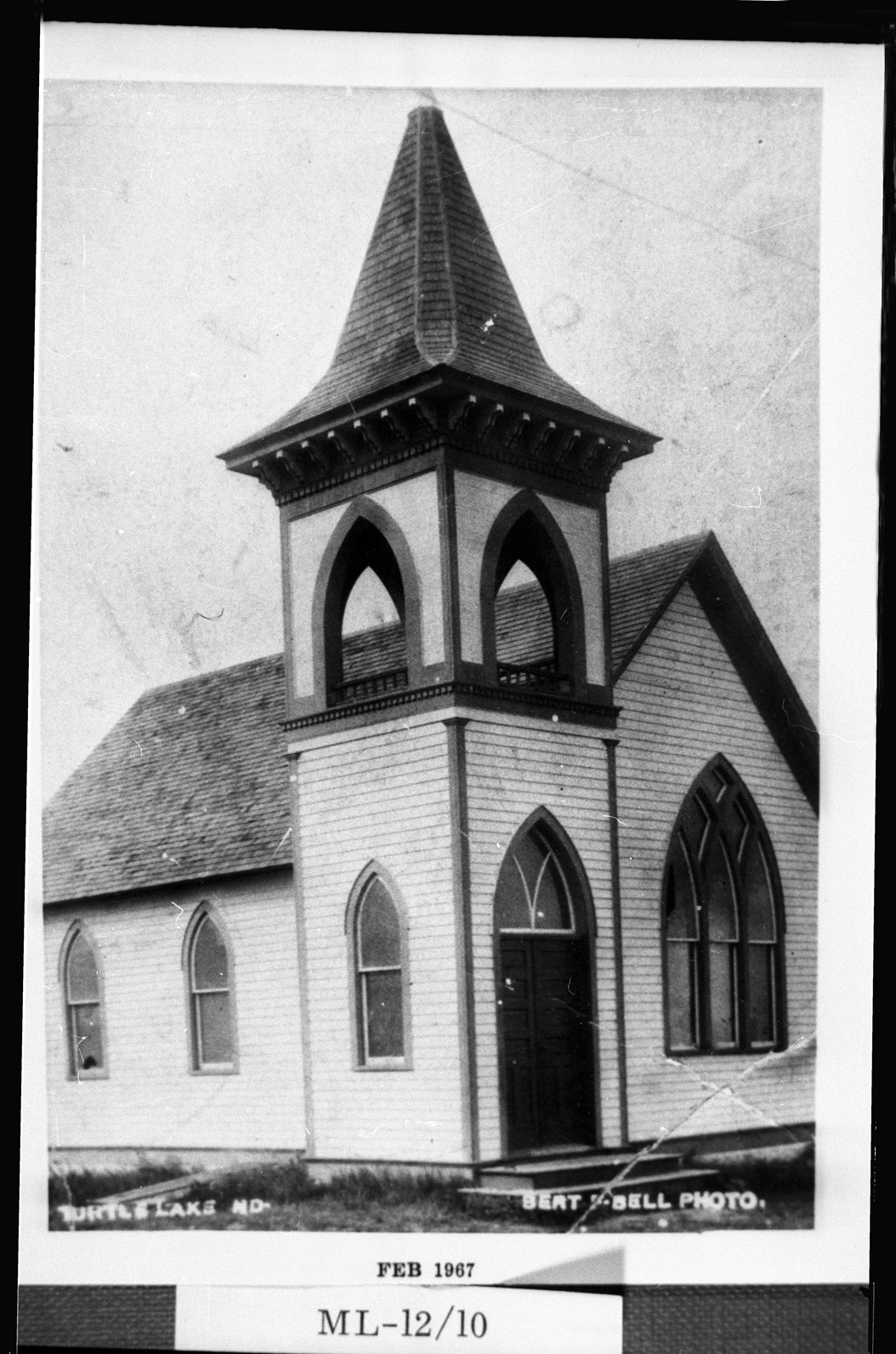 0032-ML-12-10  First Baptist Church, Turtle Lake, 1906
