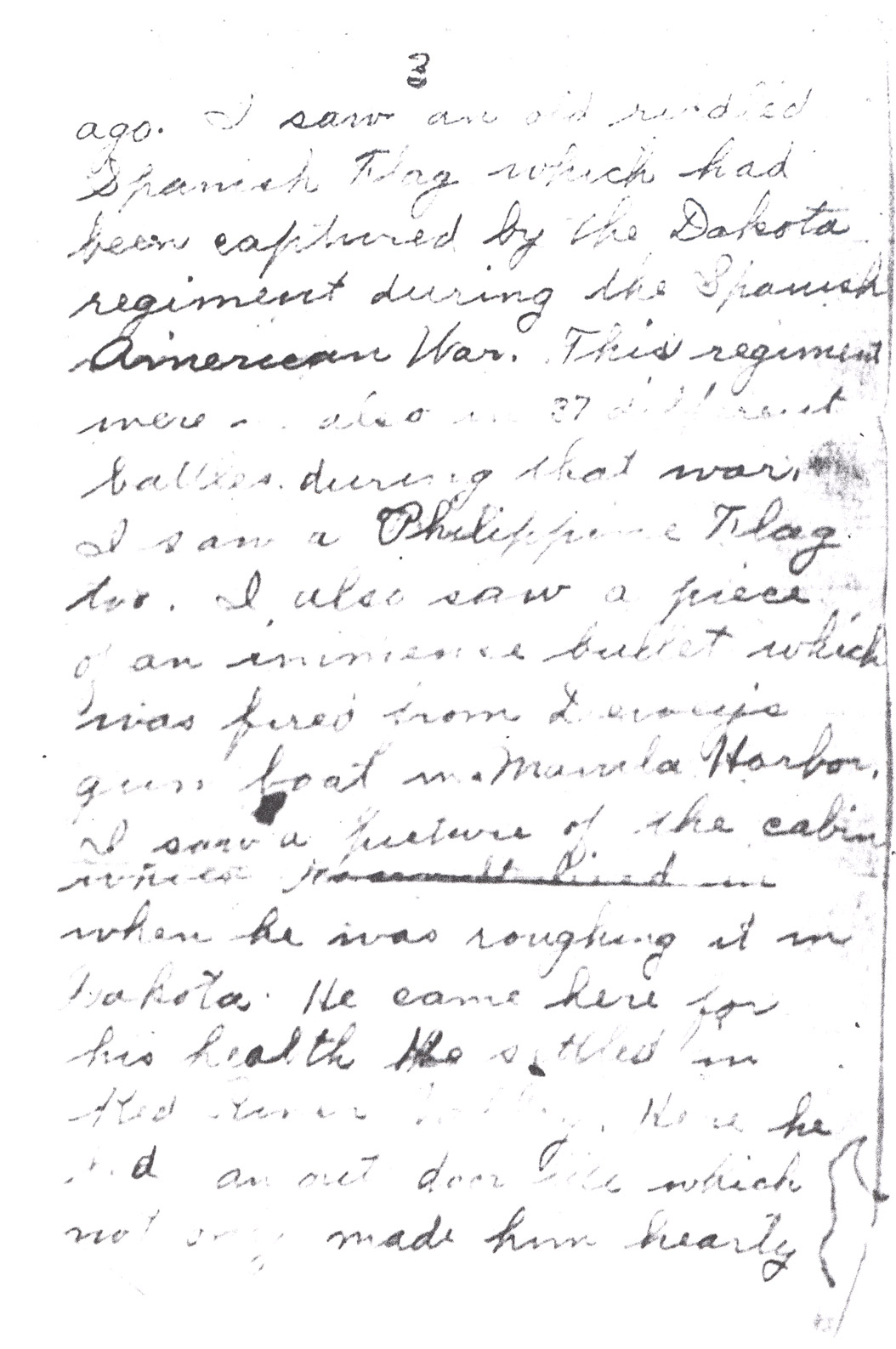 Effie Clinkenbeard Letter, original and transcript (Page 3)
