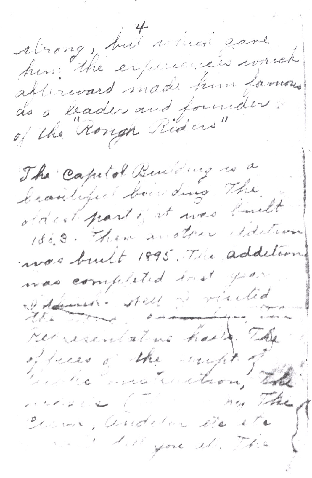 Effie Clinkenbeard Letter, original and transcript (Page 4)