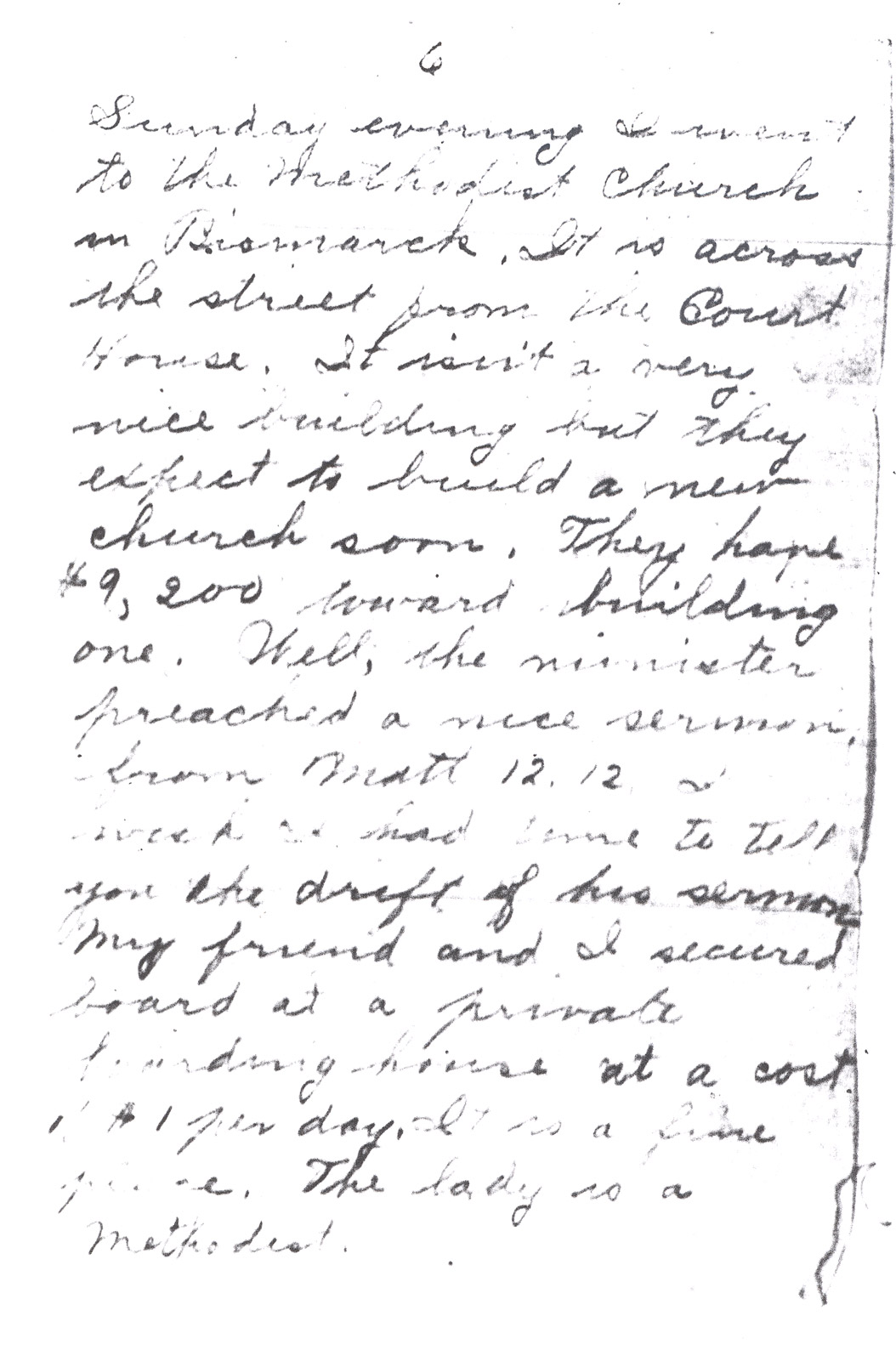 Effie Clinkenbeard Letter, original and transcript (Page 6)