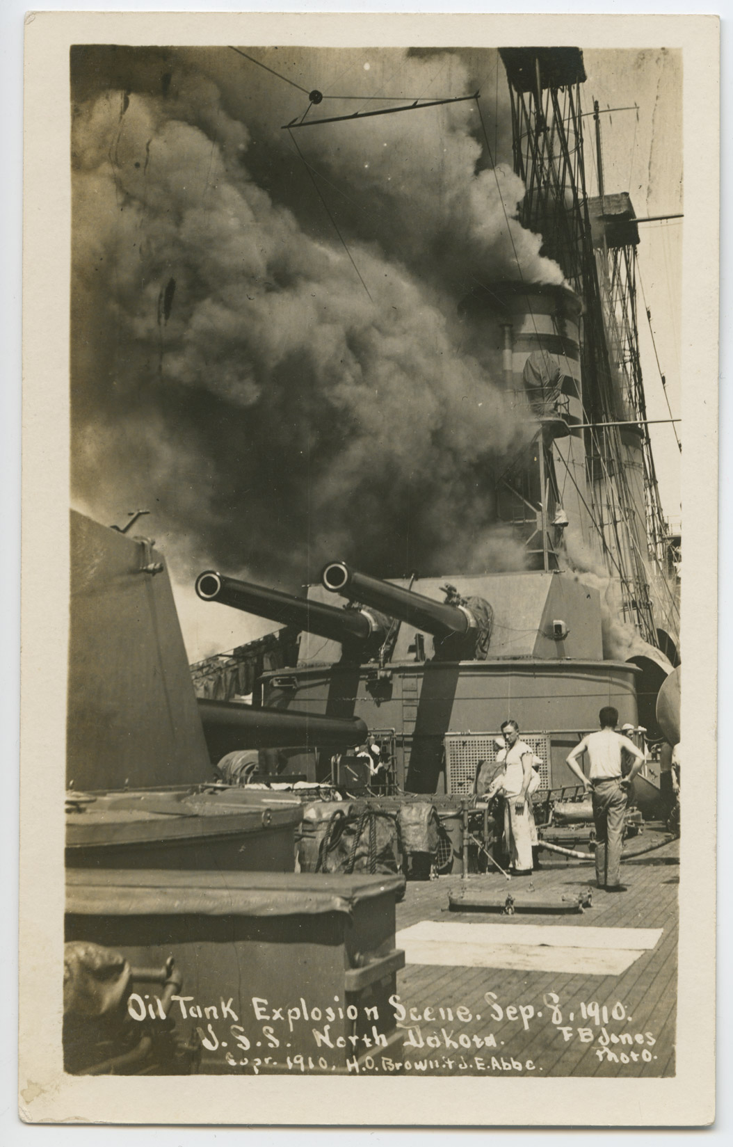 Explosion and fire aboard the USS North Dakota