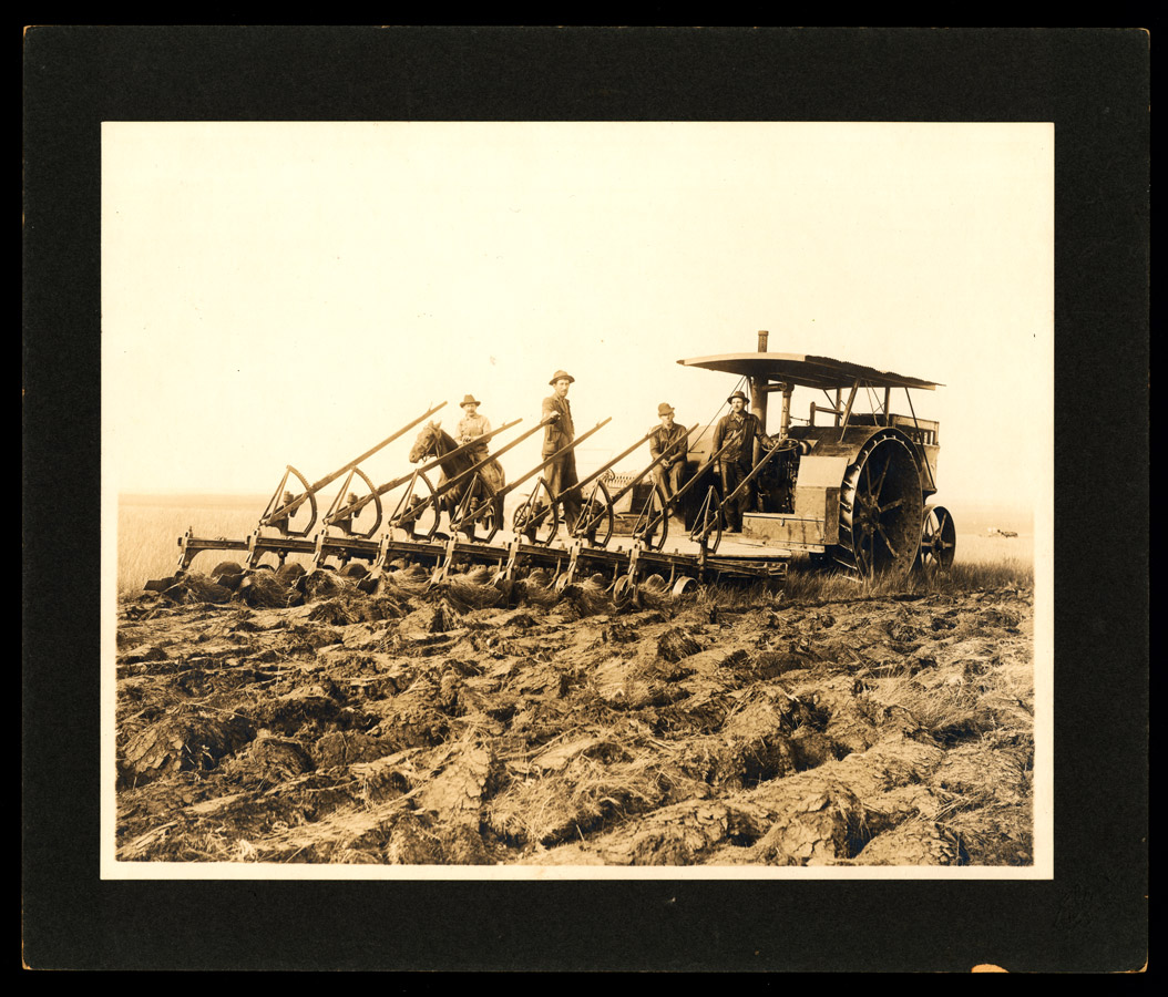 Tractors helped farmers work more efficiently during the war.