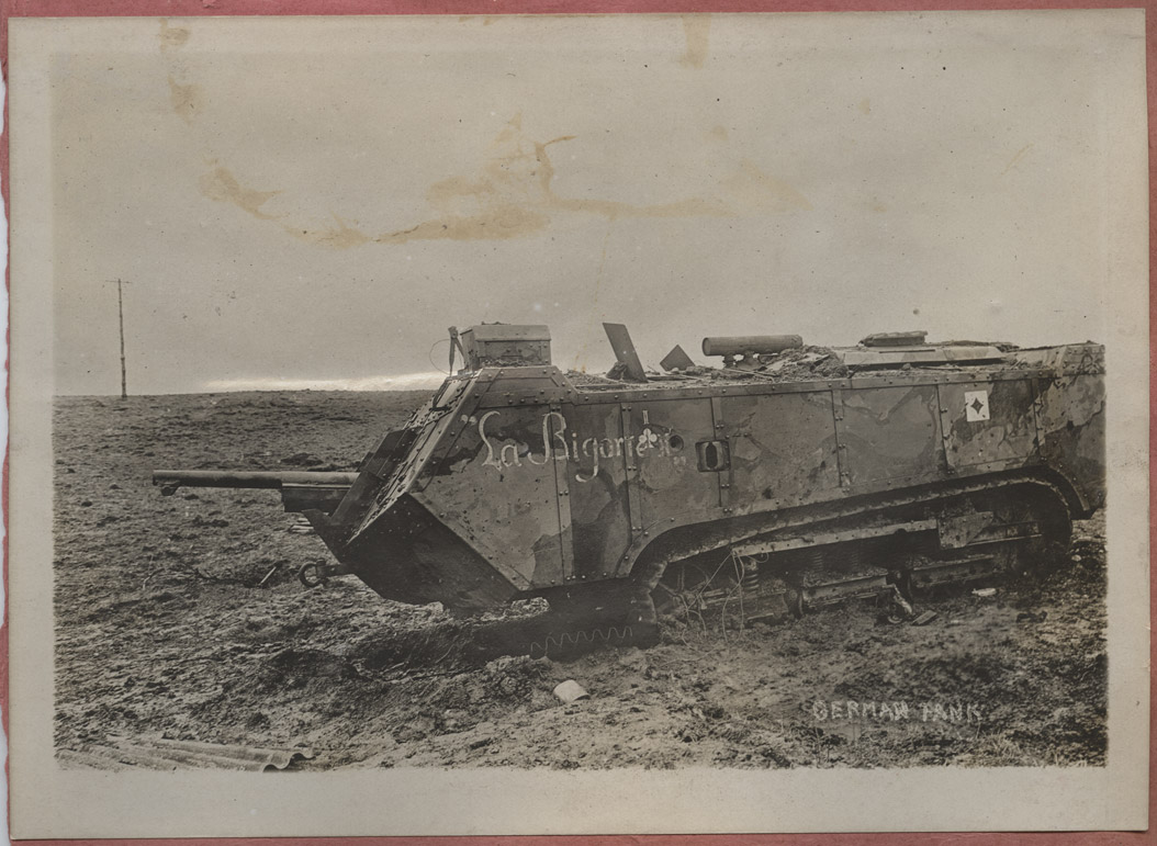Disabled German Tank during World War I